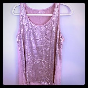 Maurices Dusty Rose Sequins Tank 🌹 Like New!